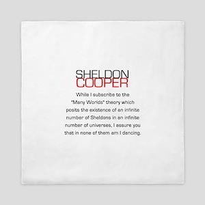 Sheldon Cooper's Many Worlds Quote Queen Duvet