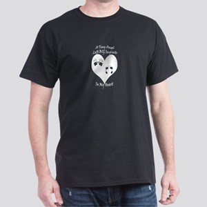 TinyAngelImprints-white blackback T-Shirt