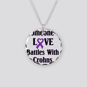 Crohns01 Necklace Circle Charm