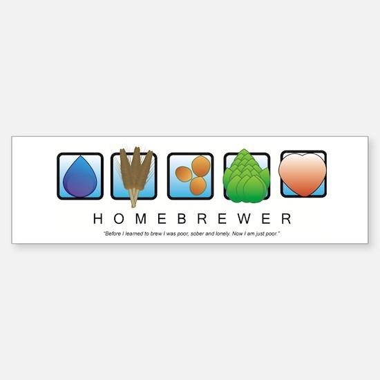 Homebrew Beer Makers Bumper Bumper Bumper Sticker