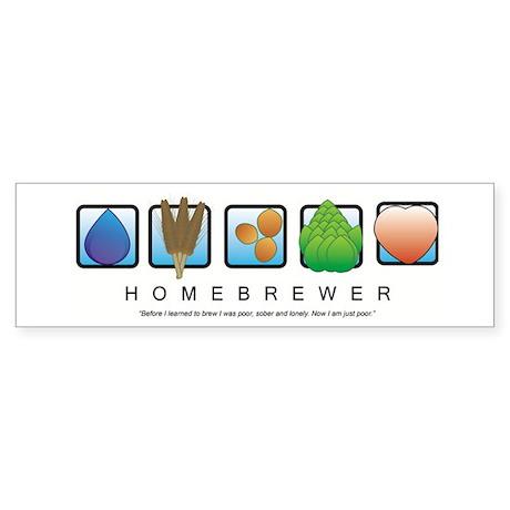 Homebrew Beer Makers Bumper Sticker
