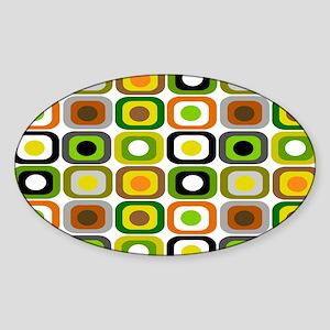 MCM 222 squares BLANKET Sticker (Oval)