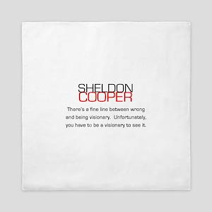 Sheldon Cooper's Visionary Quote Queen Duvet