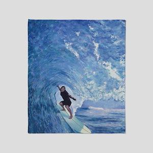 surf_04 Throw Blanket