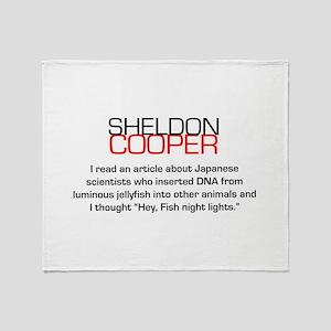 Sheldon Cooper's Fish Night Lights Throw Blanket