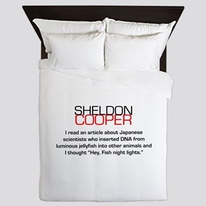 Sheldon Cooper's Fish Night Lights Queen Duvet