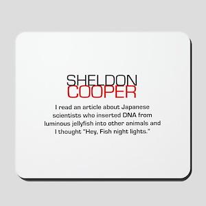 Sheldon Cooper's Fish Night Lights Mousepad