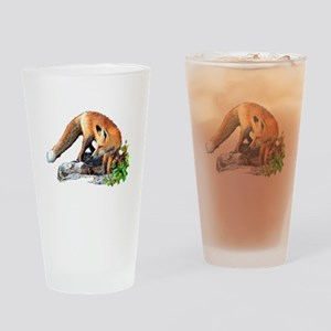 Red fox Drinking Glass