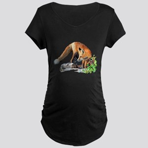Red fox Maternity Dark T-Shirt