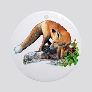 Red Fox Ornament (Round)
