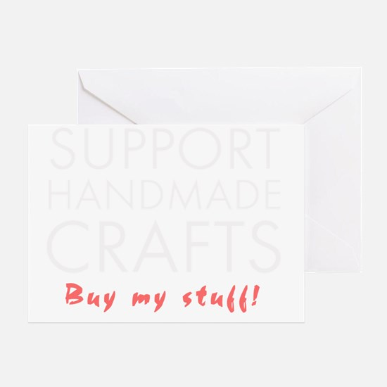 Support handmade light Greeting Card