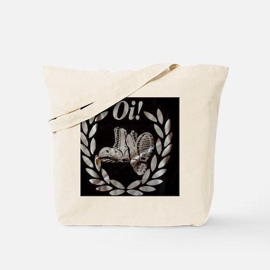 Oi Boots and Crest OiSKINBLU Tote Bag