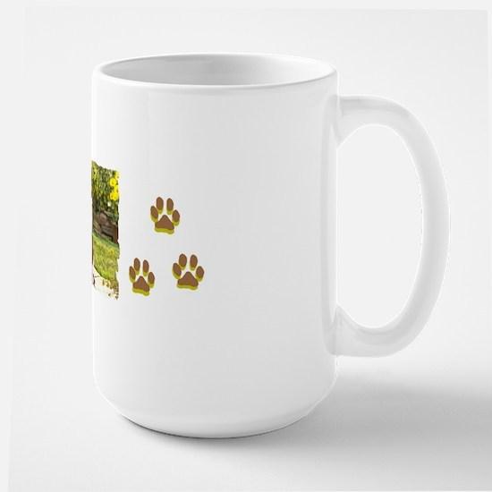 Basset puppy bumper Large Mug