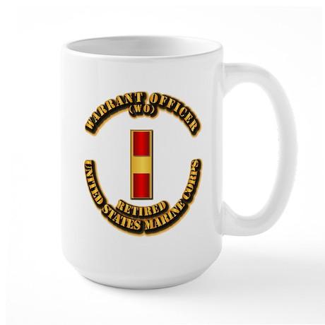 USMC - WO - Retired Large Mug