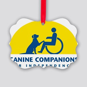 Color Canine Companions Logo Picture Ornament
