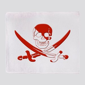 Pirate Skull Throw Blanket