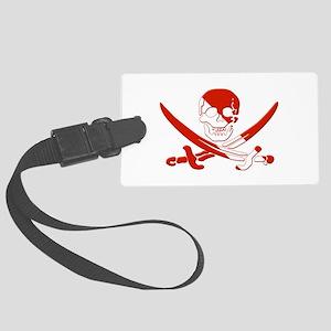 Pirate Skull Large Luggage Tag