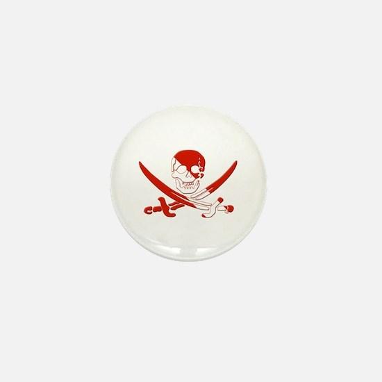 Pirate Skull Mini Button