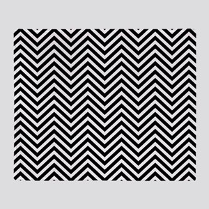 Midnight Chevron Pattern Throw Blanket
