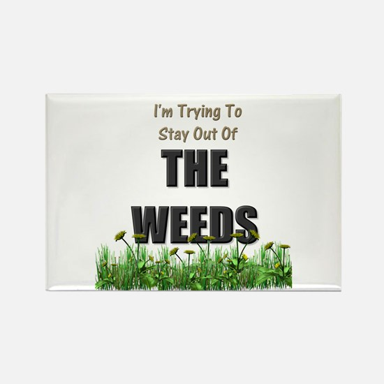 The Weeds Rectangle Magnet