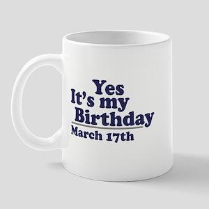 March 17 Birthday Mug