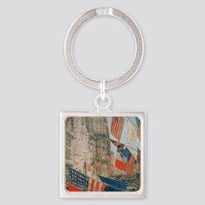 Vintage Poster 6 Cafe Press Square Keychain
