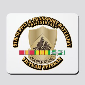 Army - 9th Supply & Transport Bn w SVC Ribbon Mous