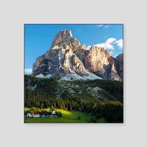 "Peak in Dolomites called Sa Square Sticker 3"" x 3"""