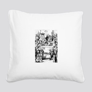 The King & Queen of Hearts Square Canvas Pillow