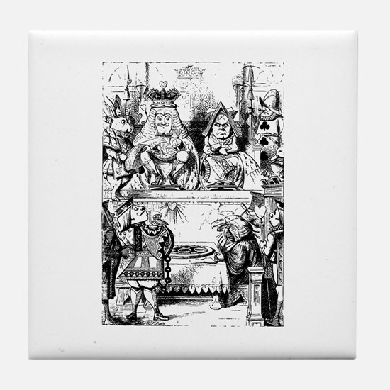 The King & Queen of Hearts Tile Coaster