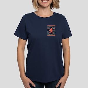 Sasquatch Sweater Tees Women's Dark T-Shirt
