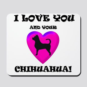 Valentine's Chihuahua Mousepad