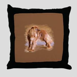 Cavalier King Charles Spaniel Ruby Throw Pillow