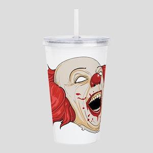 halloween evil clown Acrylic Double-wall Tumbler