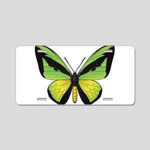 Butterfly Aluminum License Plate