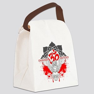 Omkara Tattoo Owl Canvas Lunch Bag