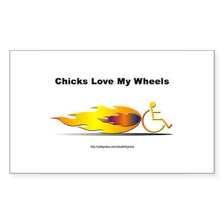 """Chicks Love"" Rectangle Sticker"