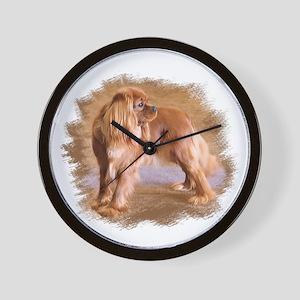 Cavalier King Charles Spaniel Ruby Wall Clock