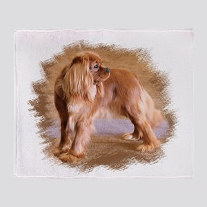 Cavalier King Charles Spaniel Ruby Throw Blanket