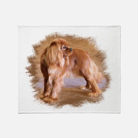 Cavalier King Charles Spaniel Ruby Throw Blanket