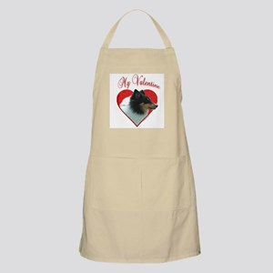 Sheltie Valentine BBQ Apron