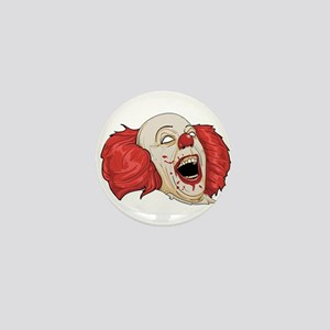 halloween evil clown Mini Button