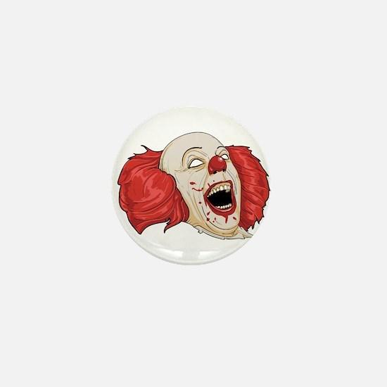 halloween evil clown Mini Button