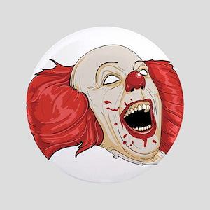 """halloween evil clown 3.5"""" Button"""