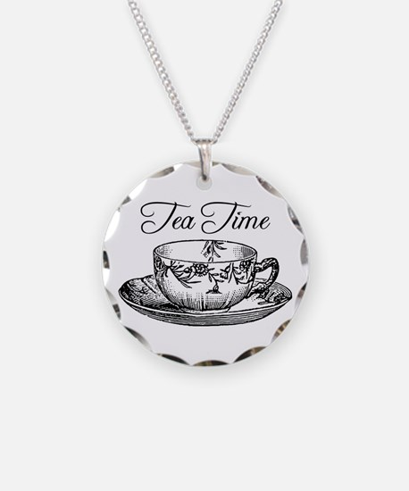 Tea Time Tea Cup Necklace
