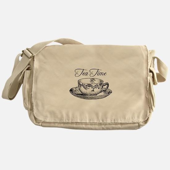Tea Time Tea Cup Messenger Bag
