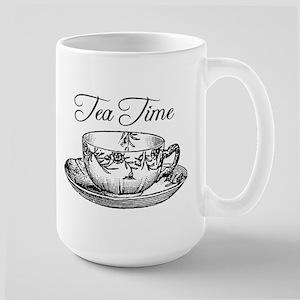 Tea Time Tea Cup Large Mug