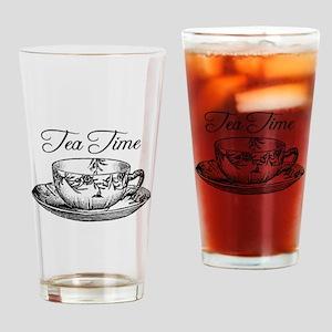 Tea Time Tea Cup Drinking Glass