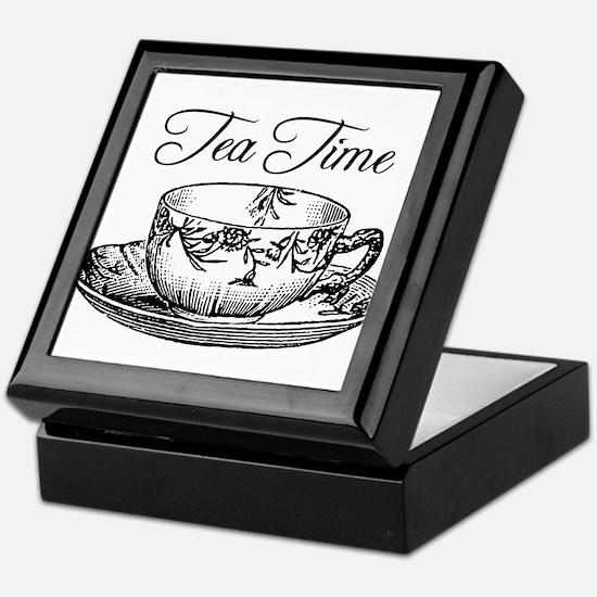 Tea Time Tea Cup Keepsake Box