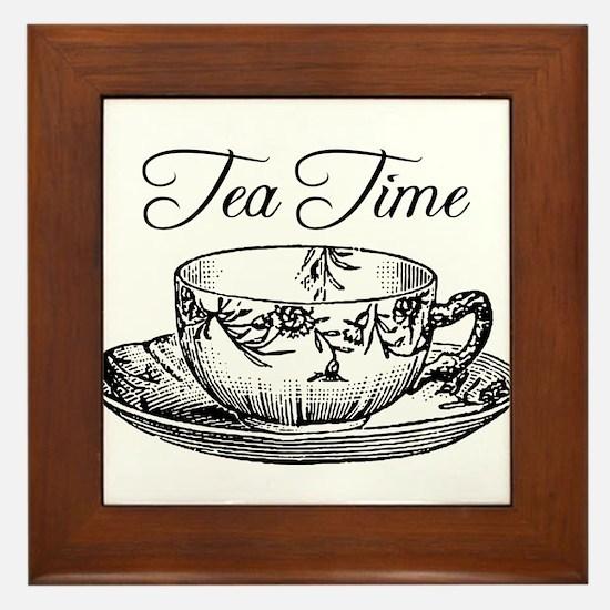 Tea Time Tea Cup Framed Tile